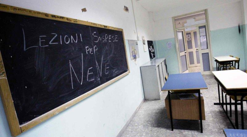 scuole chiuse per neve per la provincia di Roma