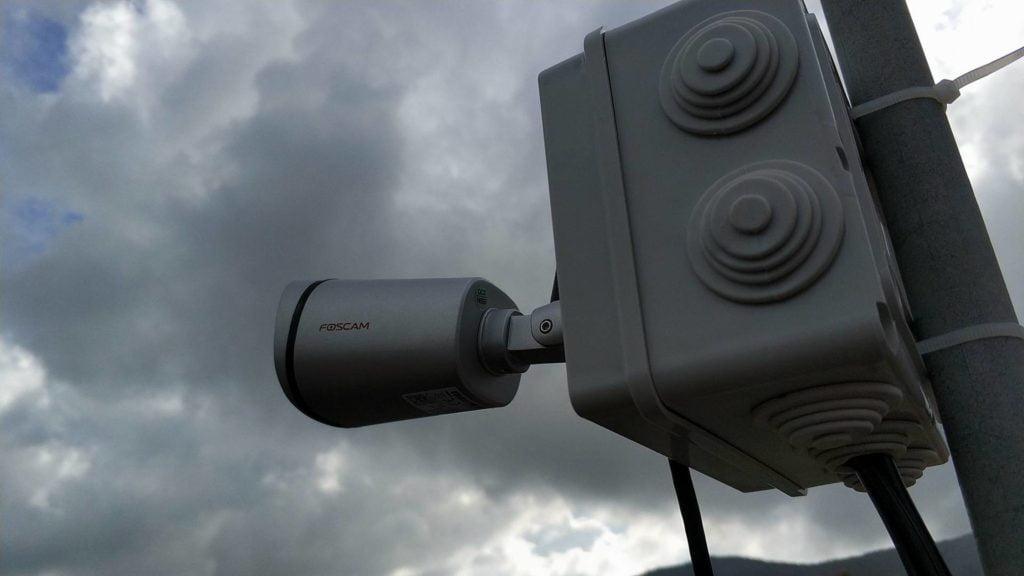 webcam vista di lato