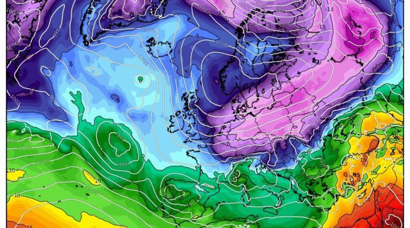 temperature ad 850 hPa previste per Sabato