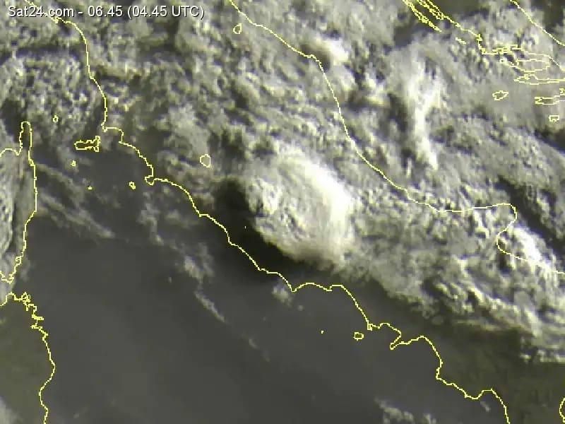 Il temporale che ha colpito Lucretili e parte della Sabina stamattina