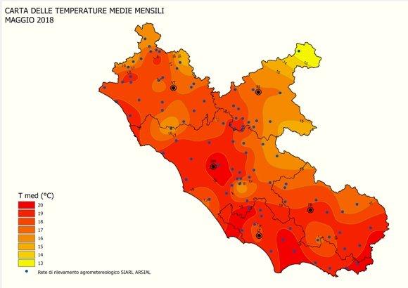 Il mese di Maggio chiude con un surplus pluviometrico ma anche di temperatura