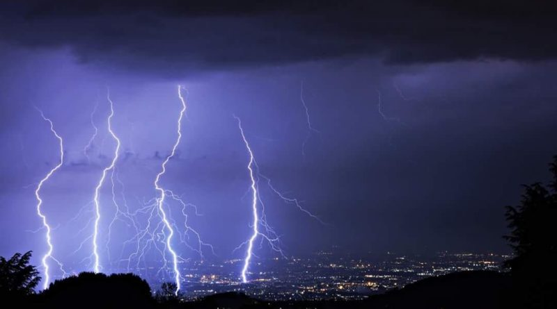 I violenti temporali dell'8 giugno 2018