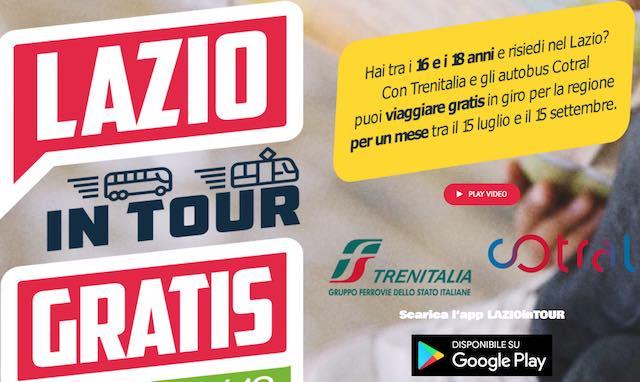 Lazio in Tour, l'iniziativa per i giovani per viaggiare un mese gratis
