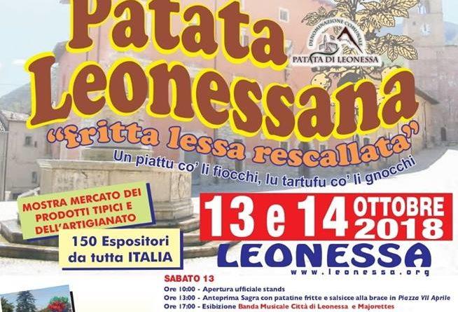 29' Sagra della Patata Leonessana - 1314 Ottobre 2018