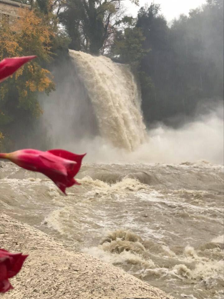 La cascata del fiume Liri, nel centro di Isola del Liri