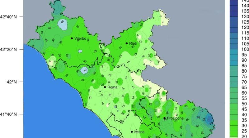 Piogge Rete Idrografico Lazio 20 Novembre