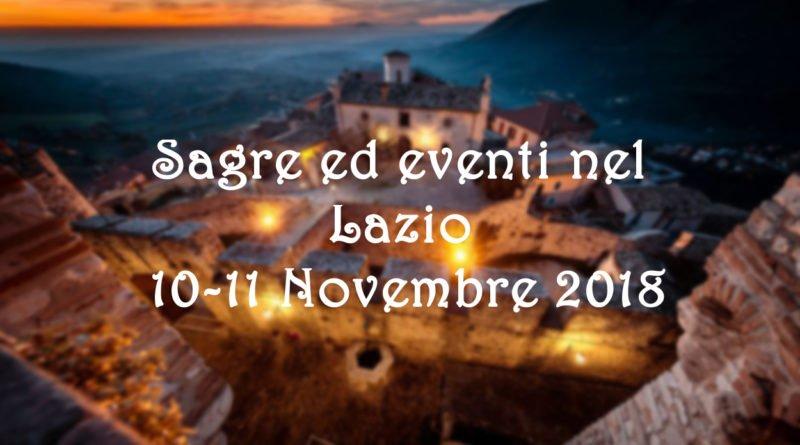Sagre ed eventi nel Lazio 10-11 Novembre 2018