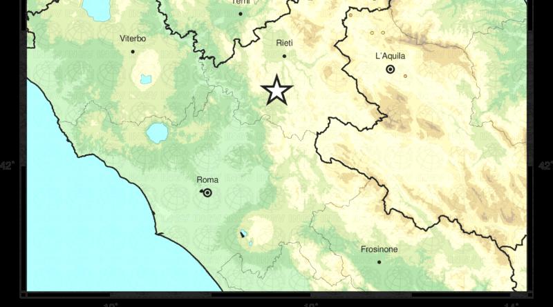 Scossa di terremoto 3.4 con epicentro Montenero Sabino (RI)