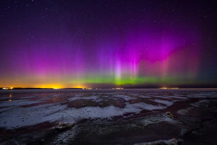 Aurora boreale fotografata in Polonia - Europa - PIOTR JACZEWSKI