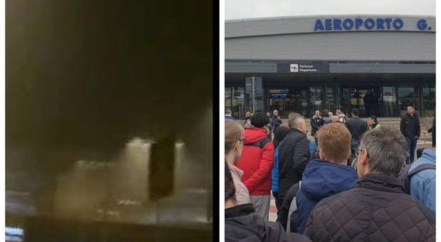 Divampato un incendio a Ciampino, aeroporto chiuso fino alle 12.00