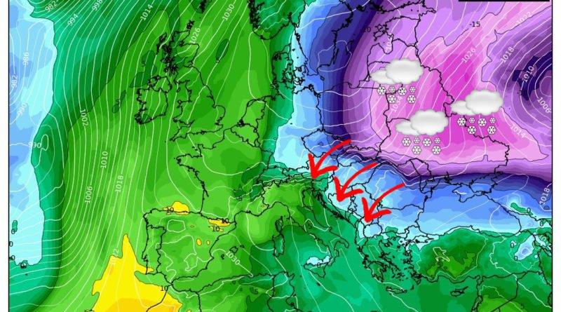 Veloce passaggio invernale con forte vento, anche se in seguito...