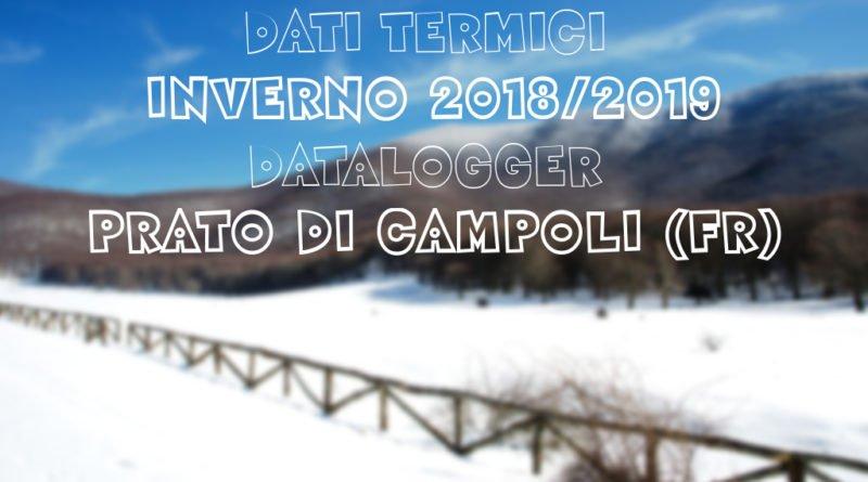 [Analisi Dati termici] inverno 2018-2019 Prato di Campoli