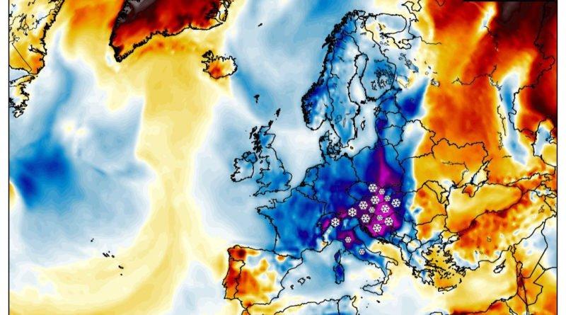 Ritorna il maltempo, a seguire super-ondata di freddo tardiva sull'Europa