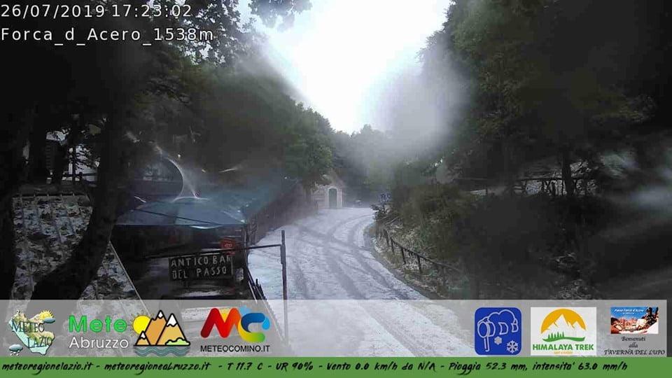 Scatto webcam Forca d'Acero ore 17.23 - 26 luglio 2019