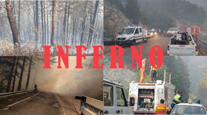 [Gallery] Incendio Alvito-Forca d'Acero terzo giorno d'inferno copertina