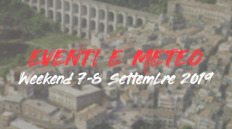 Eventi e meteo LAZIO weekend 7-8 Settembre 2019 copertina