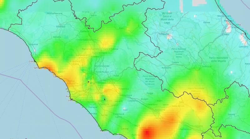 Piogge del 15 Ottobre 2019 sul Lazio