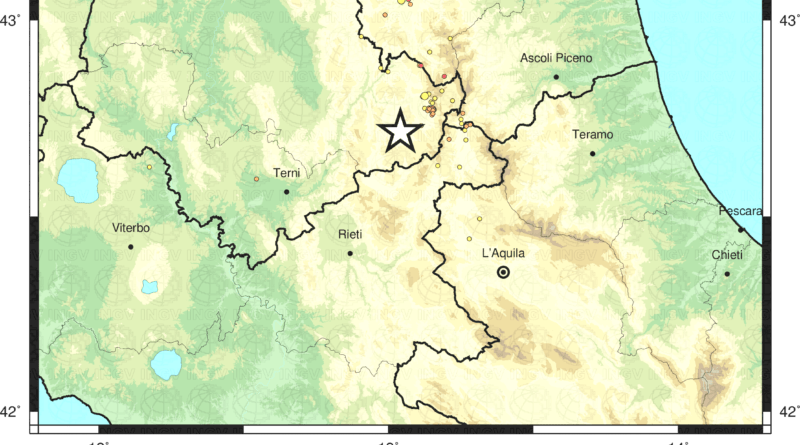 Terremoto 3.0 nel Comune di Cascia