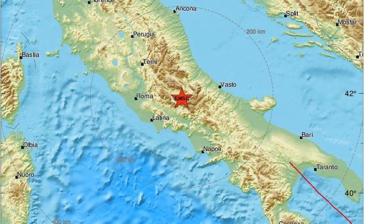 Replica di terremoto stima tra il 3.4 e il 3.9