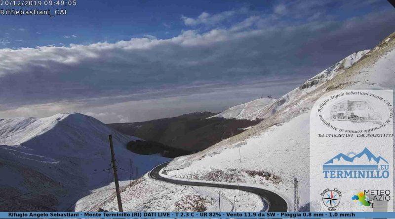 Bianco risveglio sull'Appennino Laziale nuove nevicate in arrivo ECCO DOVE