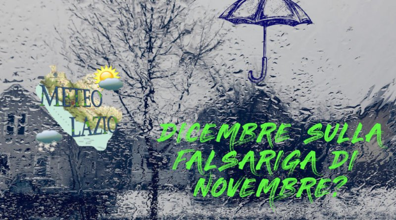 Dicembre 2019 esordio con altra pioggia