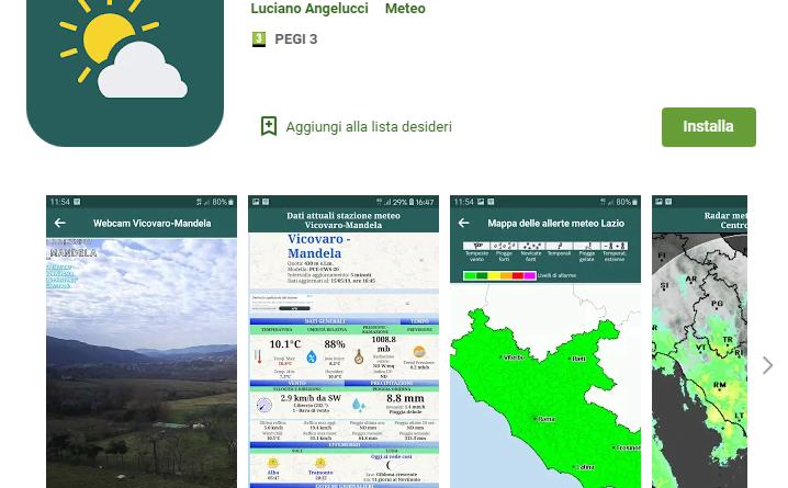 Meteo Valle Aniene la prima App partner Meteo Lazio