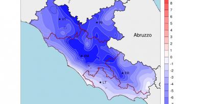 CROLLO Termico sul LAZIO: fino a 10 GRADI in meno