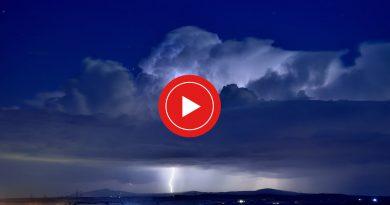 Forte TEMPORALE sull'Alto Lazio – VIDEO dei FULMINI