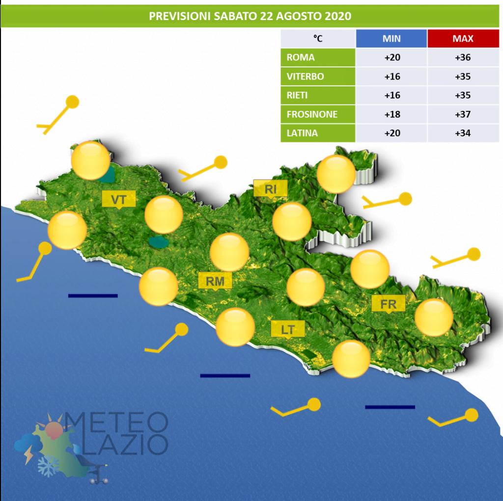 Bollettino Meteo OGGI 22 Agosto 2020 e DOMANI 23 Agosto 2020