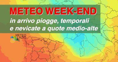 METEO WEEKEND, forte CALO TERMICO e NEVE IN ARRIVO