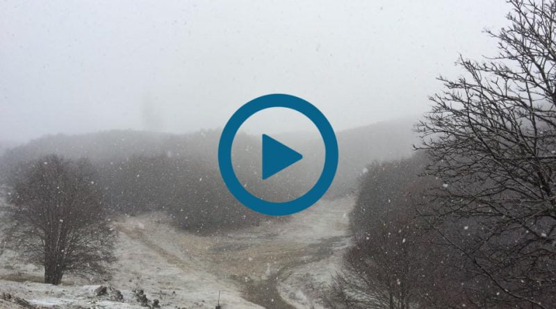 Prima NEVE sul Monte TERMINILLO - VIDEO LIVE