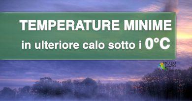 Temperature minime in CALO, con aria più FREDDA