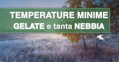 GELATE e temperature minime inferiori allo ZERO