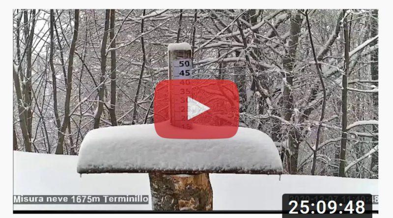 TERMINILLO - Un NIVOMETRO in streaming per controllare l'altezza della NEVE LIVE