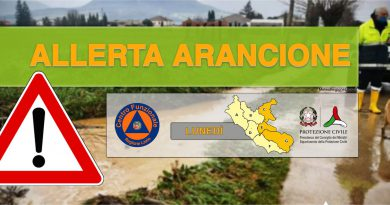 PROROGATA ALLERTA ARANCIONE – rischio idraulico anche nel REATINO oltre al Lazio centro-meridionale