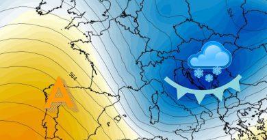 Ultimi cenni di MALTEMPO, a seguire CALO TERMICO e aria più temperata da metà settimana