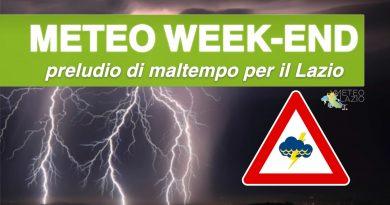 FORTE MALTEMPO prima del WEEKEND con piogge e temporali tra ROMA e LATINA