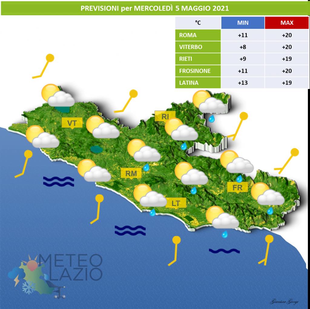 Bollettino Meteo per OGGI 4 Maggio 2021 e DOMANI 5 Maggio 2021