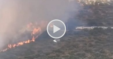 Le FIAMME minacciano il convoglio ferroviario ROMA – PESCARA a Tivoli [VIDEO]