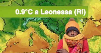 Inizio settimana più FREDDO: prime temperature minime a UNA SOLA CIFRA