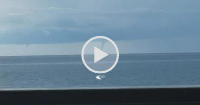 TROMBE MARINE avvistate al largo di ANZIO, visibili anche dalle spiagge di ROMA