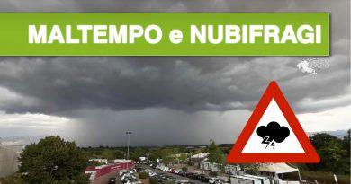 Domenica pomeriggio di MALTEMPO nel basso Lazio per i NUBIFRAGI e le RAFFICHE DI VENTO tra le province di Roma e Latina [VIDEO e FOTO]
